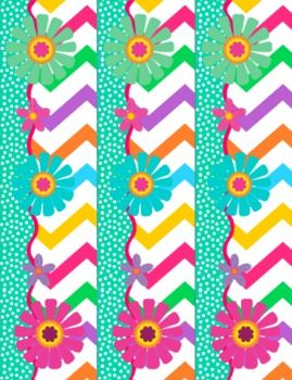 free chevron flower themed bulletin board border and poster school