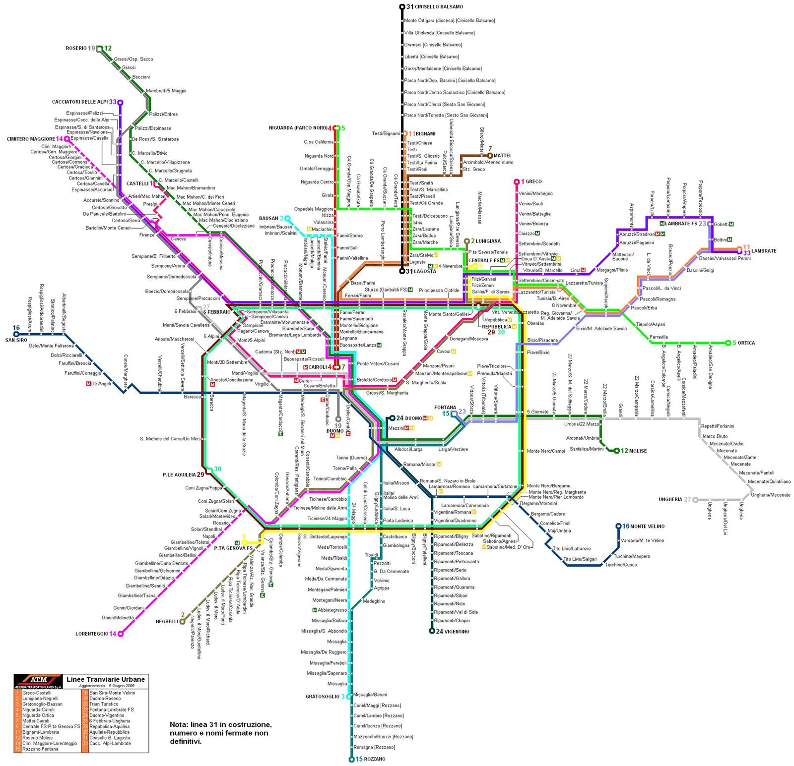 Milan Subway Map Subway Map Map Train Map