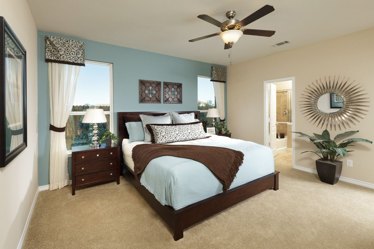 Master bedroom color schemes  Love the Colors and the Mirror  Bedrooms  Cool Colors  Pinterest