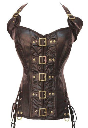 Sue Shop Wholesale Buckle-up Steampunk Steel Shapewear waist training Corset/Bustiers,XL