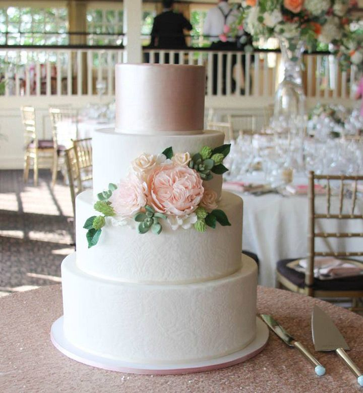 wedding cake pictures and ideas wedding cakes with sugar flowers from erica obrien 23433