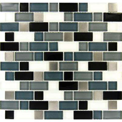 Crystal Cove 12 In X 12 In Glass Blend Mesh Mounted Mosaic Tile Mosaic Tiles Wall And Floor Tiles Glass Tile