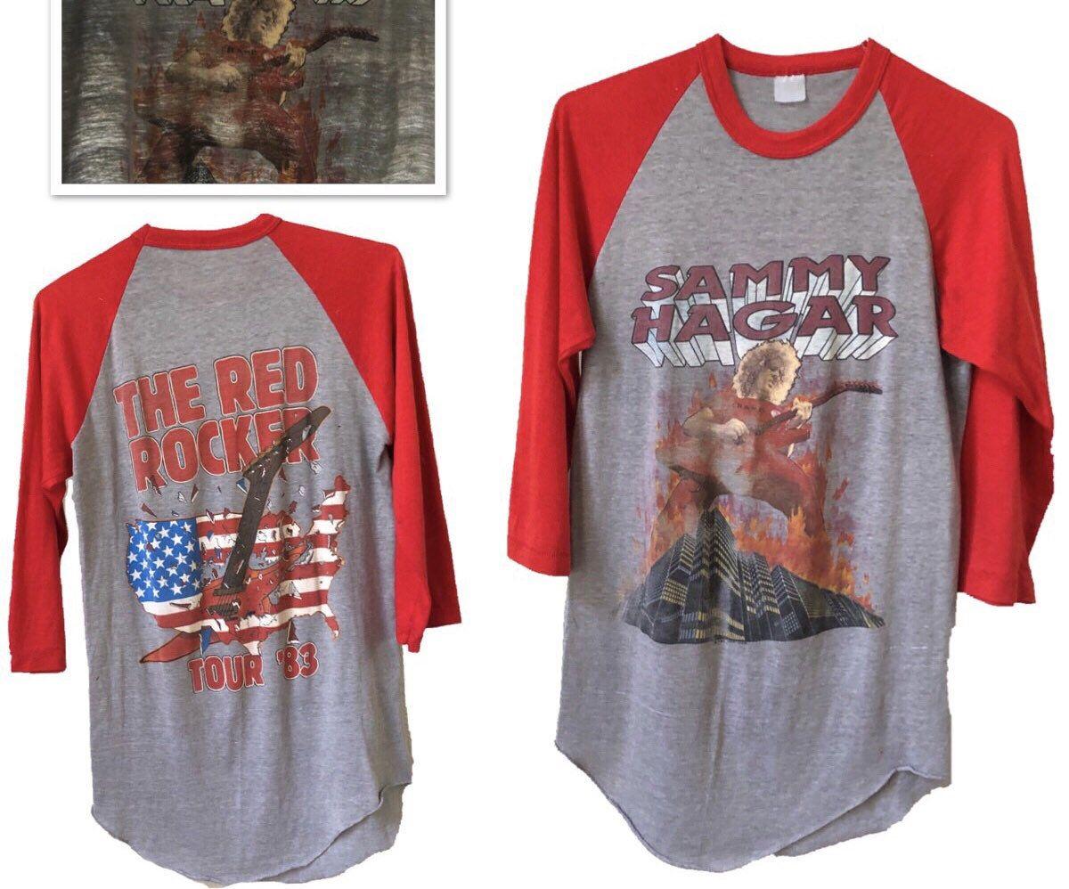 Excited To Share This Item From My Etsy Shop Vtg 83 Paper Thin Sammy Hagar Raglan Baseball T Shirt Tee Rock Double Womens Medium Baseball Tshirts Tee Shirts