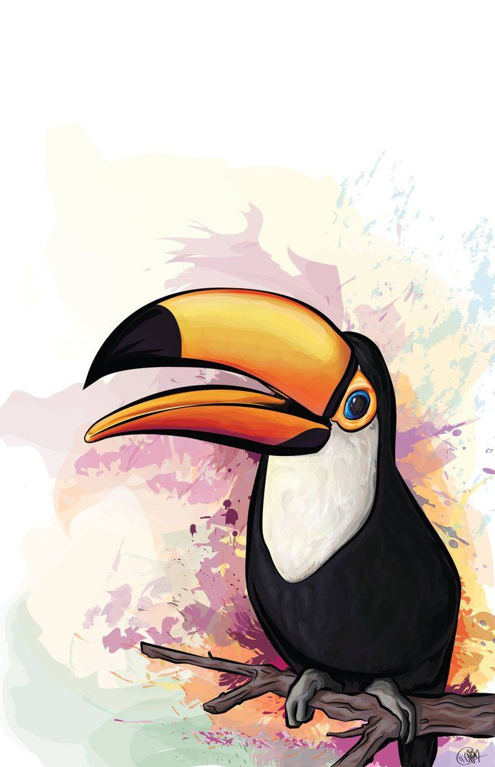Tropical Blast by ArtSpansTime | ♥ ✿ Tucán Beautiful Toucan ...