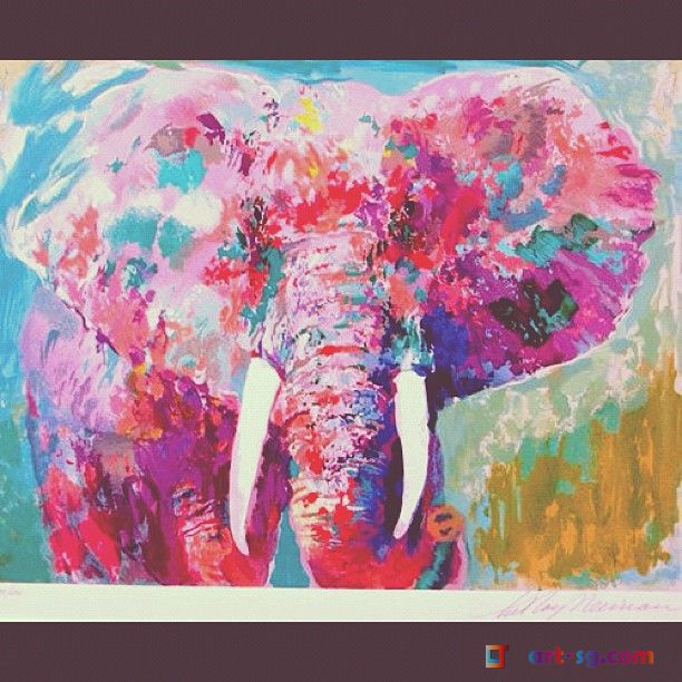elephant art | Home :: Abstract Paintings :: ABSTRACT animal ...