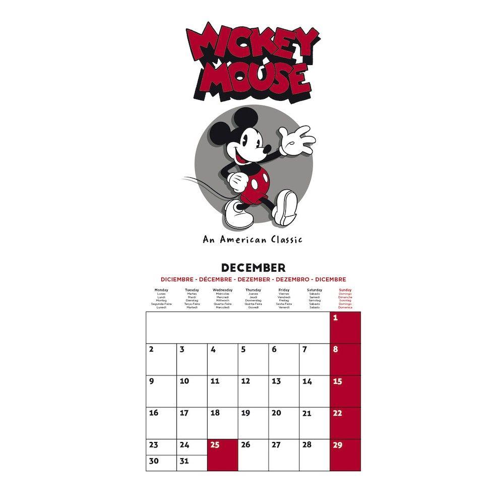 Calendario 2019 Disney Para Imprimir.Calendario 2019 30x30 Disney Mickey 90 Anniversary Grupo