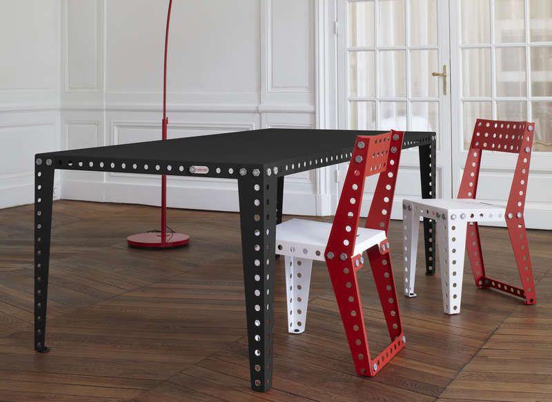 Table Salle A Manger Meccano Home Table Achat Design Ventes Pas Cher Com Mobilier Meuble Design Mobilier Contemporain