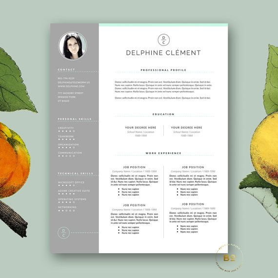 Resume Template 3 Page Resume Template by BotanicaPaperieShop - 3 page resume