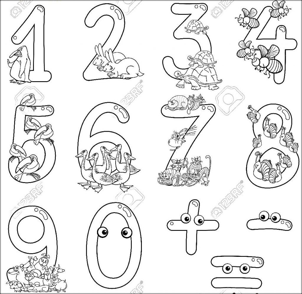 123 Cartoon Coloring Picture To Color