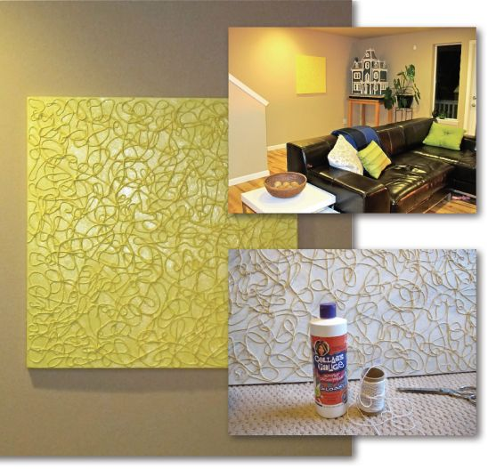 5 diy easy wall art projects sprays ideas and on for Easy wall painting