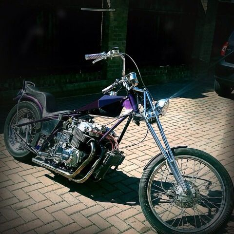 Honda CB750 SOHC hardtail chop