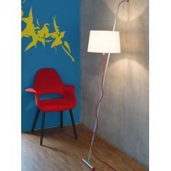 Photo of Stehleuchte Wall grau, Designer Aluminor, 196x33x40 cm AluminorAluminor