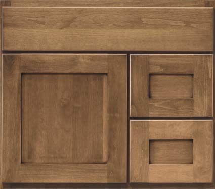 Bertch Birch W Driftwood Finish Love The Shaker Door Style The Bath To Happiness Bertch