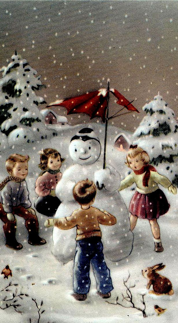 Vintage Christmas   Happy Holidays   Pinterest   Schneemann ...