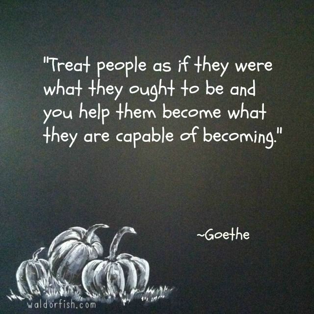 Can you imagine adults treating one another this way?! And how our children would thrive and grow with this philosophy!
