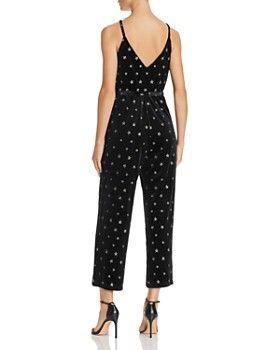 a26fd74105cf AQUA - Star-Embroidered Velvet Jumpsuit - 100% Exclusive