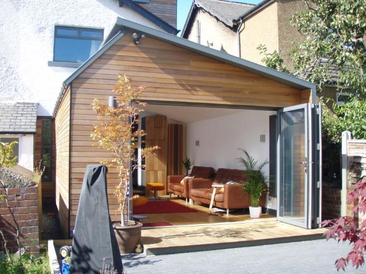 Asymmetrical Pitch Roof Extension Uk Google Search Garden Room Extensions Room Extensions Contemporary Garden Rooms