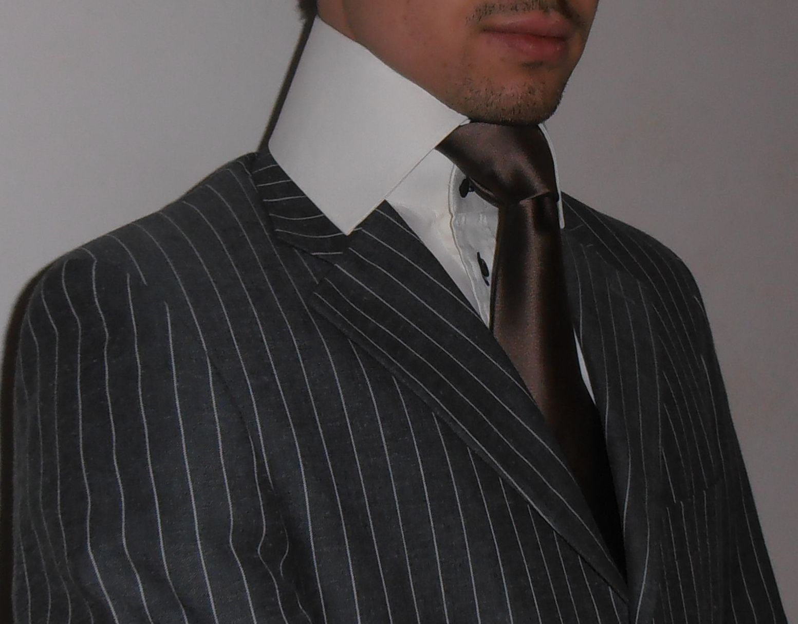 Pin By Thomas Henderrson On Prominent Neckties High Collar Shirts