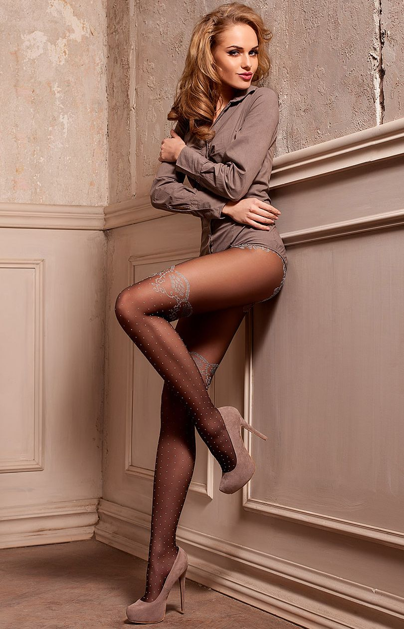 Beauty beautifully dresses pantyhose