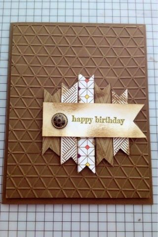 Masculine Birthday Card - Park Lane and Tiny Trian