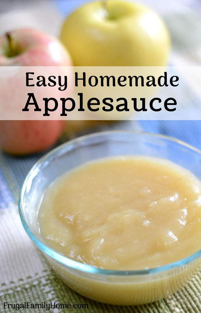 How to Make Homemade Applesauce, Easy Recipe