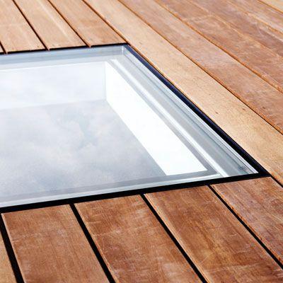 Châssis pour toit plat sans cadre visible de lintérieur | Skyvision