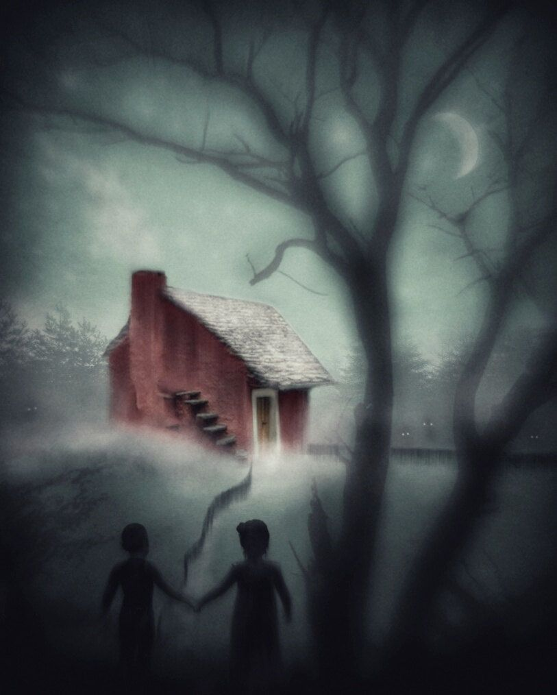 Creepy Art Fairytale Hansel & Gretel Gothic