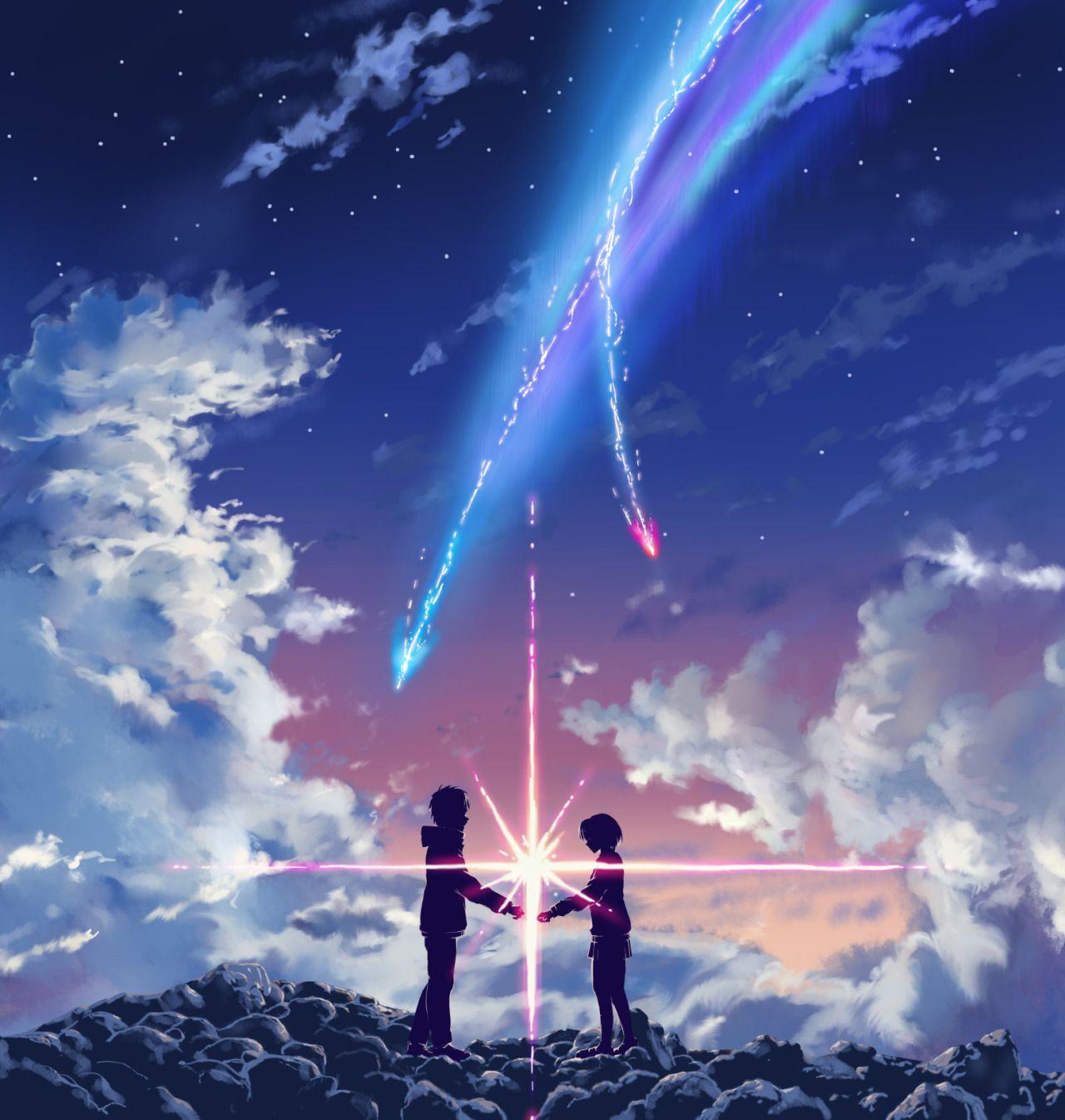 Kimi no nawa Pemandangan anime, Ilustrasi manga, Gambar