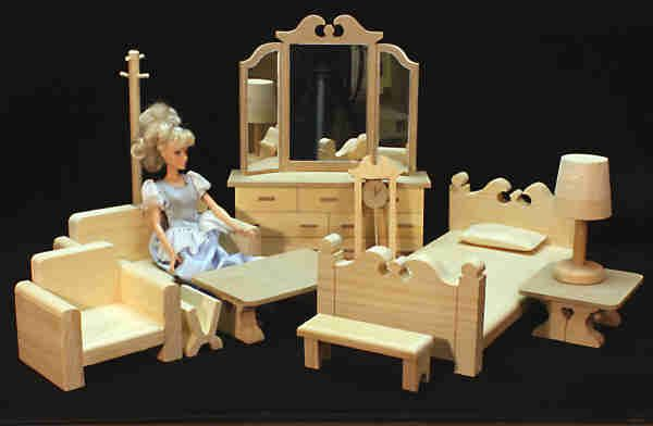 wooden barbie doll house furniture. natural classic master bedroom furniture wooden dollhouse dollhouses and barbie doll house