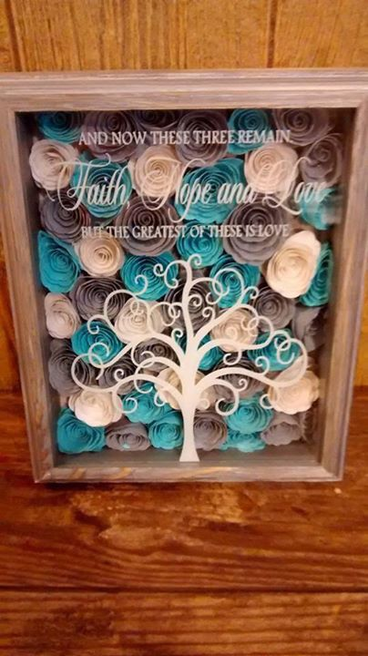 Love These Rolled Flowers Cameo Diy Shadow Box