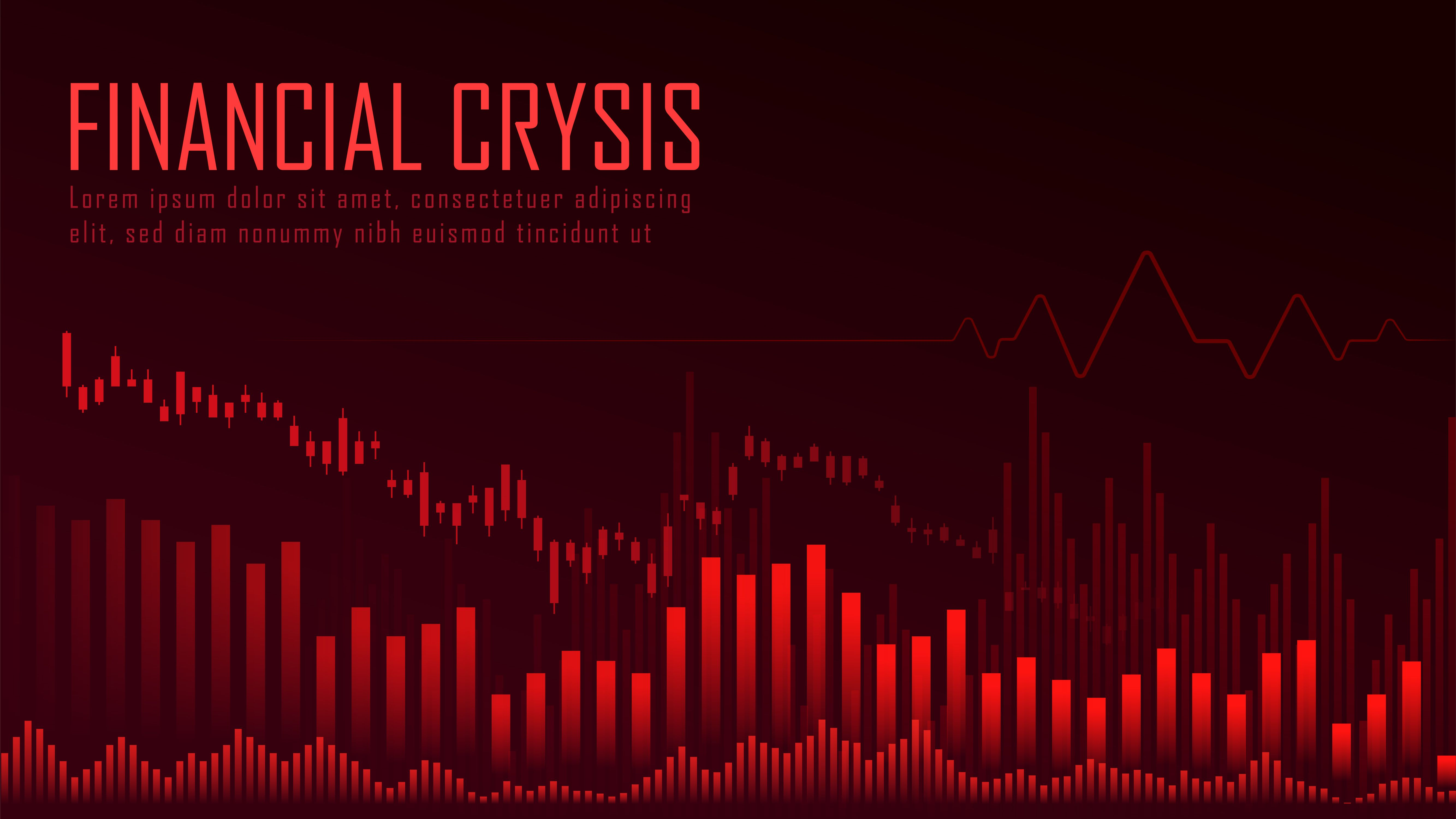 Financial Crysis Graphic Concept In 2020 Financial Stock Market Economic Trends