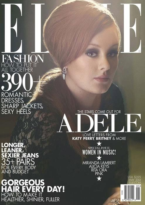 Adele for ELLE US, may 2013