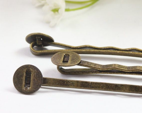 52mm Antique Bronze Hair Pin Hair Clip Bobby Pin by TrinketHouse, $2.20