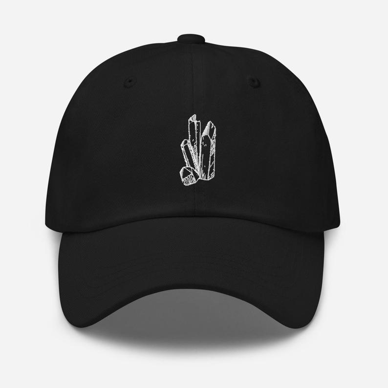Women S Hats Crystals Hat Crystal Dad Hat Crystals Hat Etsy Dad Hats Hats For Women Black Dad