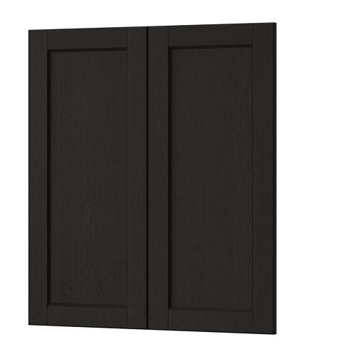 Lerhyttan Porte Arm Inf Angle 2p Teinte Noir 13x30 33x76 Cm