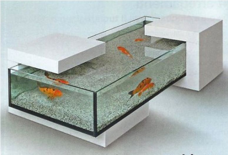 Custom Coffee Table Aquarium. Totally Awesome And I Could Totally Pour  These Concrete Pieces