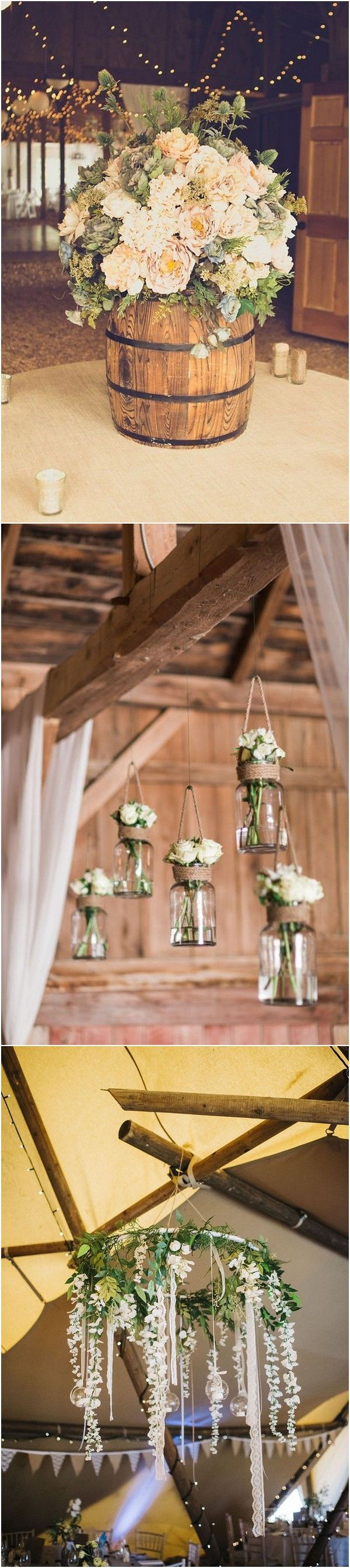 Perfect Country Rustic Barn Wedding Decoration Ideas  Barn