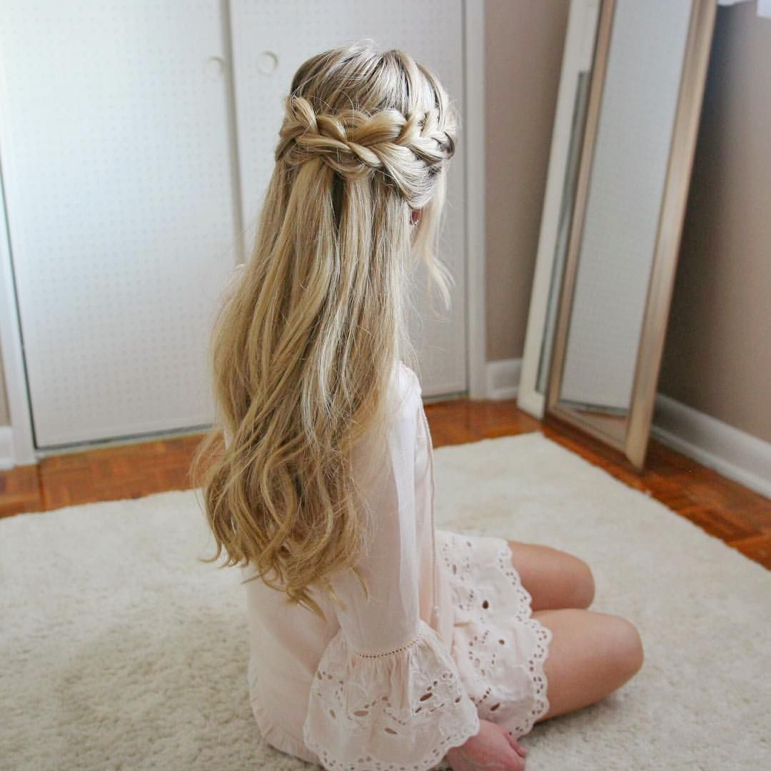 20 Gorgeous Wedding Hairstyles For Long Hair: See This Instagram Photo By @missysueblog • 4,849 Likes
