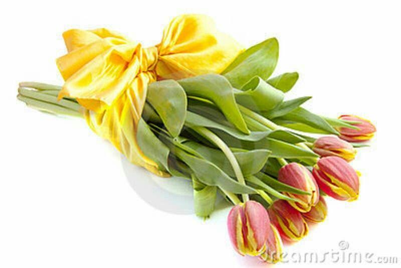 Bello ramo de tulipanes.