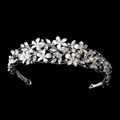 beautiful stephanotis flower headband