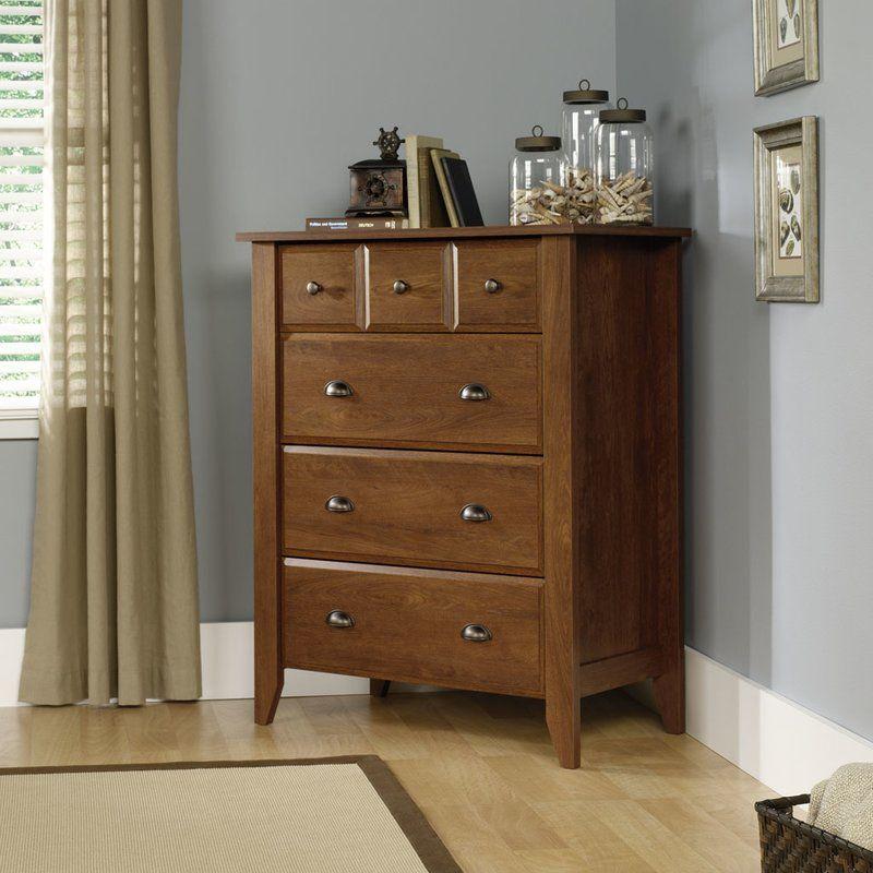 Revere 4 Drawer Chest Sauder Furniture Modern Dresser Furniture