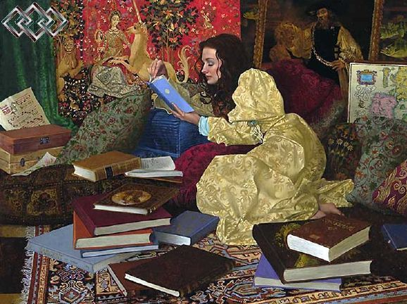 A place of her own--James Christensen - my kind of heaven!