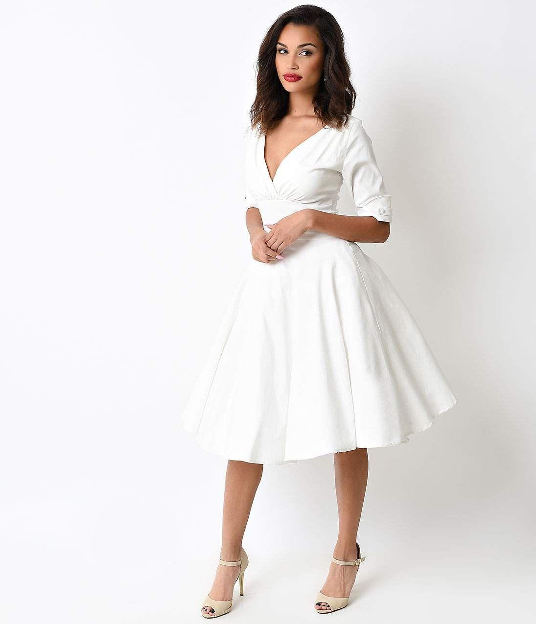 Unique style wedding dresses  s Wedding Dress s Style Wedding Dresses Rockabilly Weddings
