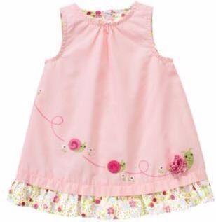 7a1a6717d gymboree vestido para niña bebe hembra talla 0 a 3 meses