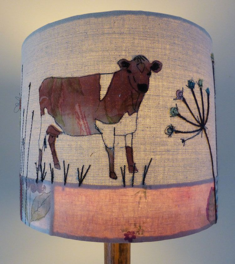 Friesian cow embroidered lampshade measuring 30cm x 25cm httpwww friesian cow embroidered lampshade measuring 30cm x 25cm httpjohilltextiles aloadofball Images