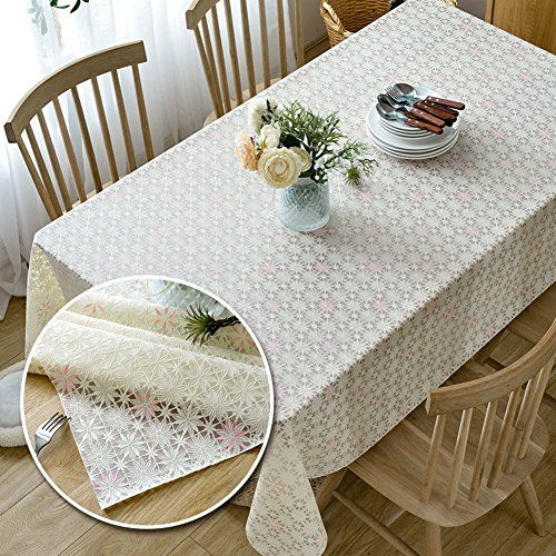 Pvc Tablecloth Tea Table Mats Waterproof Plastic Anti Oil Anti Hot Bedside Cabinet Rectangular I 137x220cm 54x87inch Tea Table Table Cloth Table Mats