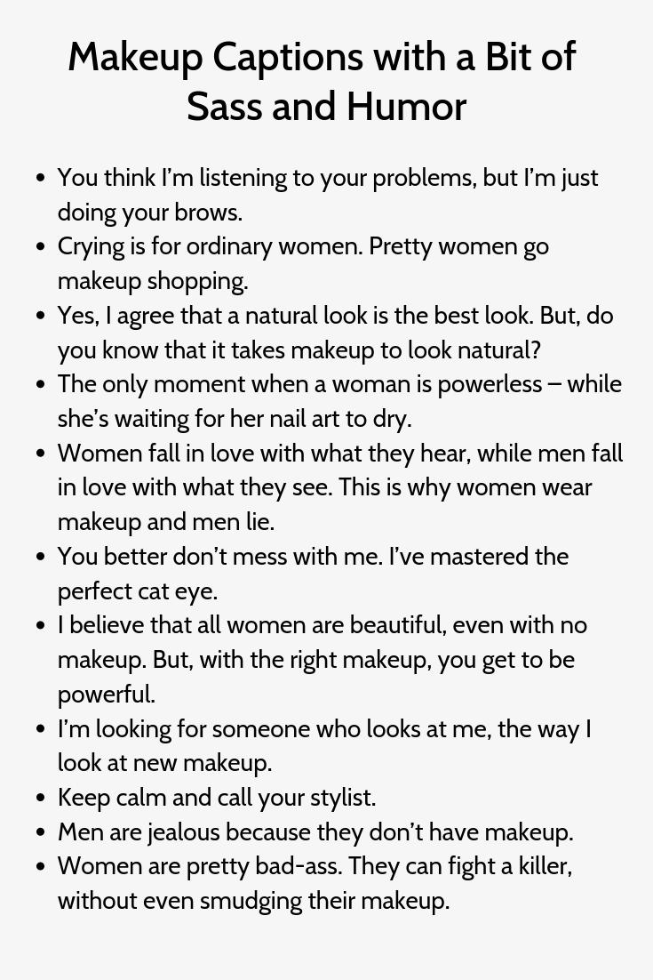 Makeup Captions For Instagram Con