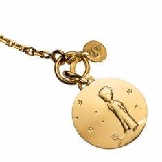 Bracelet Le Petit Prince sur sa planète et breloque diamant (or jaune 750° et diamant) - La Monnaie de Paris