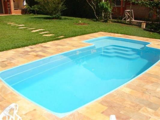 resultado de imagem para piscina de fibra para quintal pequeno - Piscinas De Fibra