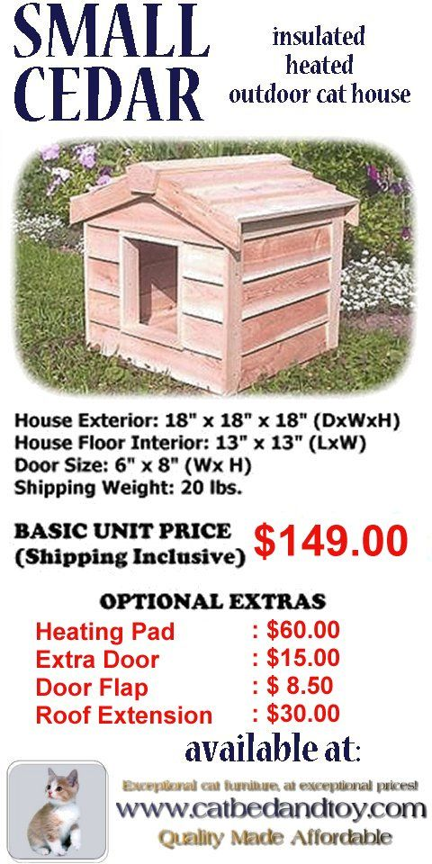 Small Insulated Cedar Outdoor Cat House For Your Cats Or The Visiting Strays Apart F Outdoor Cat House Outdoor Cat Shelter Outside Cat House Feral